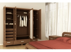 Шкаф 4-х дверный коллекция Селена-2