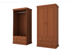 Шкаф для одежды 2дверный коллекция Каролина