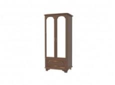 Шкаф для одежды 2-дверный комбинированный коллекция лира